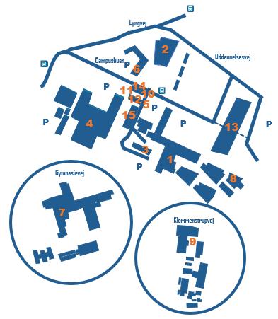 Kort over CAMPUS skolerne